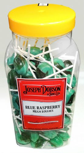 R123 DOBSONS BLUE RASPBERRY MEGA LOLLY